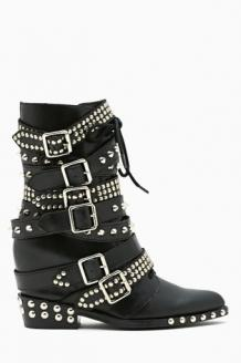 Draco Strapped Stud Boot in Trends Raise Hell at Nasty Gal